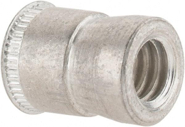 1/4-20 UNC, Cadmium-Plated, Steel Knurled Rivet Nut Inserts