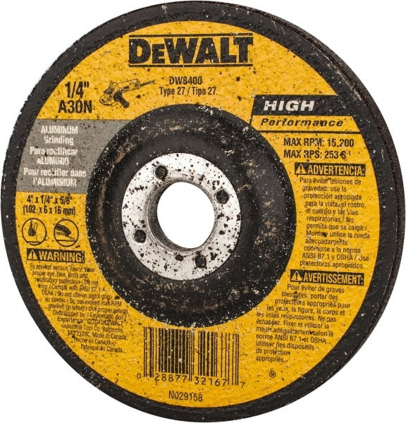 Depressed Center Wheel 60 Pack 4 1//2 in Dia 1//4 in Thick 5//8 Arbor Hardness Grade N