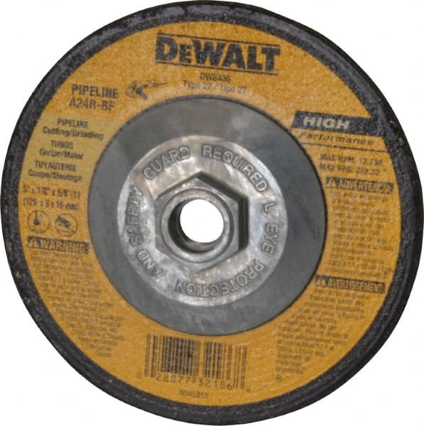 1//4 in Thick Hardness R Depressed Center Wheel 31 Pack Type 27 24 Grit 6 in Dia