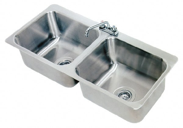 Advance Tabco 20x16x8 2 Compart Drop In Sink DI 2 208