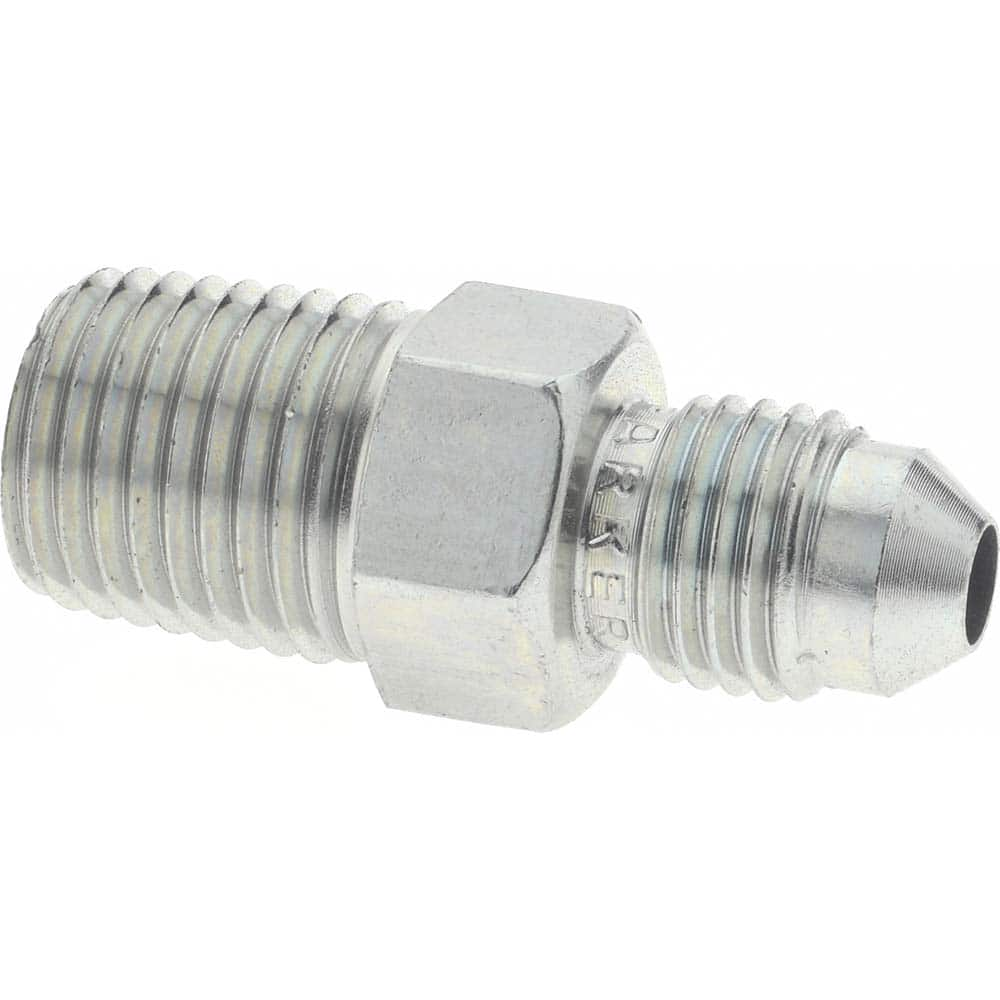 Parker 68HD-4-6 Flareless Tube Fitting 1//4 and 3//8 Hi-Duty Brass Tube to Pipe Compression and Male Pipe Connector