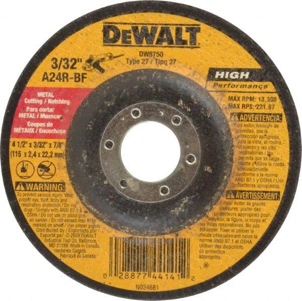 """DEWALT DW8424H 4-1//2/"""" x 0.045/"""" x 5//8/""""-11 Metal Cutting Wheel"""