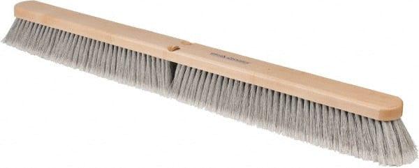 "Wood B... PRO-SOURCE 24/"" General Purpose Horsehair Blend Push Broom 3/"" Bristles"
