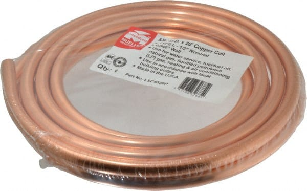x 20 ft L Type L  Copper Water Tube Dia Mueller  1//2 in