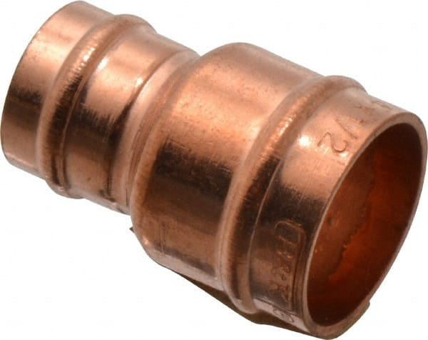 """Copper Reducer 5//8/"""" Coupling x 1//2/"""" Coupling"""