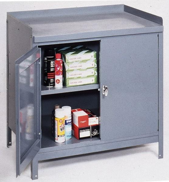 Edsal 1 Shelf, Steel Combination Storage Cabinet U0026 Work Table   36 Inches  Wide X