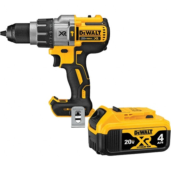 Dewalt 20 Volt 1 2 Metal Ratcheting Chuck Cordless Hammer Drill 10395622 Msc Industrial Supply