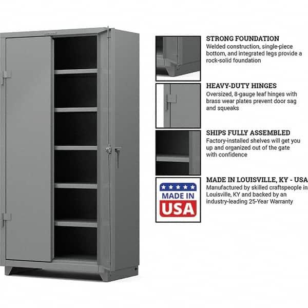5 Shelf Locking Storage Cabinet, Craftsman 6 Heavy Duty Floor Cabinet With 4 Shelves