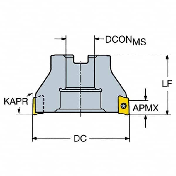 13.2 mm Cutting Diameter Face Contact Sandvik Coromant R390-014EH12-07M Coromill 390 Square Shoulder Milling Cutter 11.7 mm Connection Diameter
