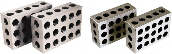One Pair 2 4 6 Precision Blocks 23 Holes Set of 2 PCS