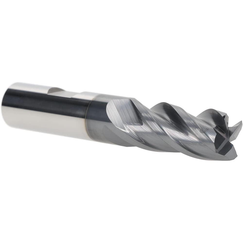 Carbide End Mill 5//8 Shank Diameter 0.09 Radius 4 Flute Single 3-1//2 L TiAlN Coated