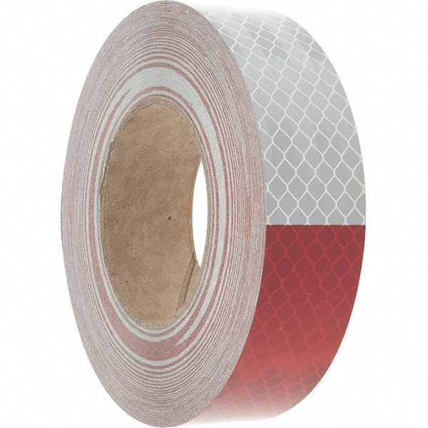 "3M RED SILVER Reflective Diagonal Stripe Conspicuity Tape 1-1//2/"" x 35/' CUSTOM"