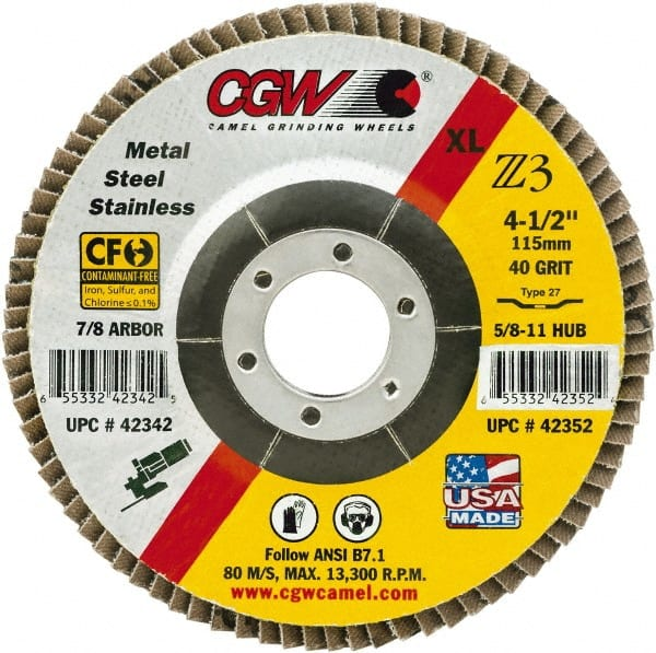 Norton 66254491778 Abrasive Flap Wheels Size 6 x 7//8 80 Grit 10 EA