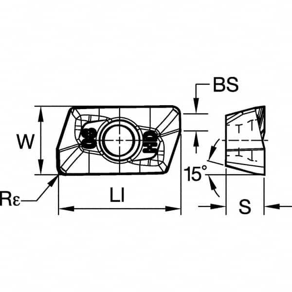 Kennametal Ep1004 Hd Grade Kc725m Carbide Milling Insert 77459089 Msc Industrial Supply