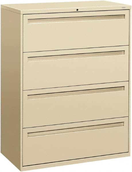 Sandusky 600 Lateral File Steel 4 Drawer Cabinet 36 Width x 53-1//4 Height x 19-1//4 Depth Putty