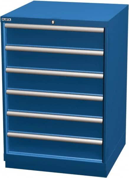 6 Drawer Blue Steel Modular Storage, 6 Drawer Cabinet