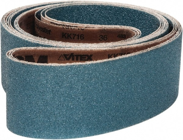 Cloth Backing 132 Length Brown 1 Width 1 Width 132 Length VSM Abrasives Co. Aluminum Oxide Coarse Grade VSM 109259 Abrasive Belt 24 Grit Pack of 10