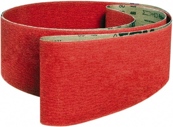 100 Grit Medium Grade 1//4 Width 12 Length VSM Abrasives Co. Pack of 20 12 Length Ceramic 1//4 Width Cloth Backing VSM 307813 Abrasive Belt Bright Red