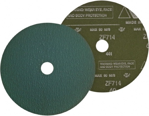 Ceramic Plus 80 Grit VSM 149545 Resin Fiber Disc Fiber Backing 4-1//2 X 7//8 Arbor Hole Red Medium Grade Pack of 50