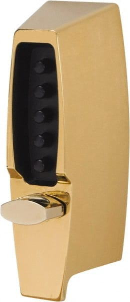 Yale 112-1//4 Rimlock Deadbolt Brass Lacquer Finish Rim Cylinder 1-1//8 to 2-1//4 Door Thickness
