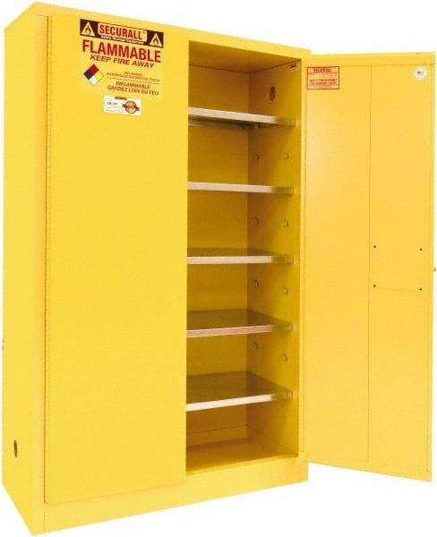 Yellow Hazardous Chemical Storage Cabinets Mscdirect Com