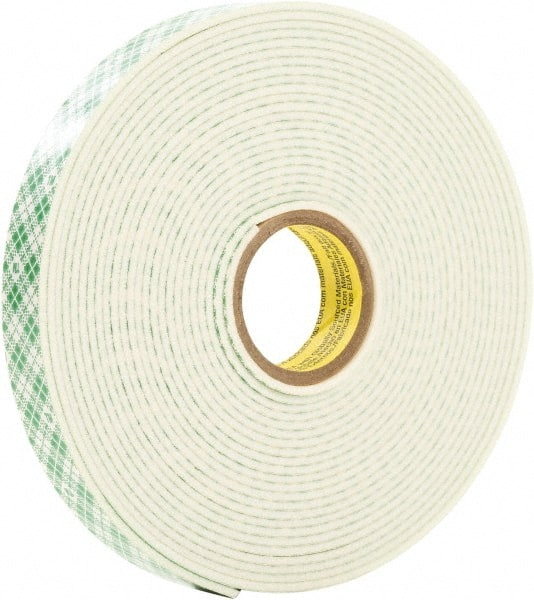 3m 12inches x5yd x 125 white double coated foam tape