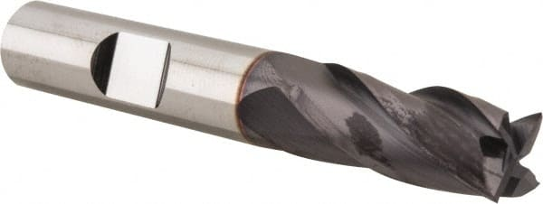 3//8 Shank Diameter TiAlN 2 Flute Regular 2-1//2 Right Hand Cut Single Carbide End Mill