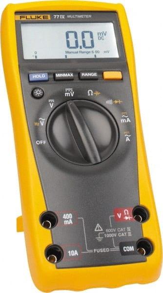 Fluke - 77-4, CAT IV, CAT III, 1,000 VAC/VDC, Digital Auto