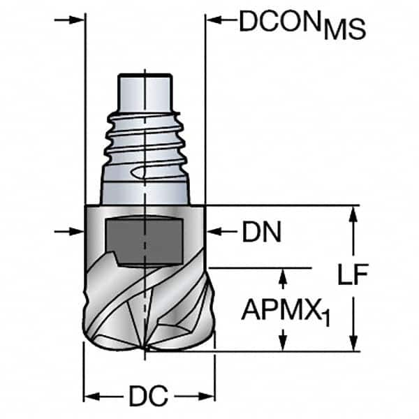 0.06 mm Corner Radius Sandvik Coromant 316-20SM450C20015P 1030 Carbide Milling Insert Positive Chip Breaker
