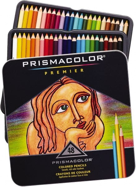 Prismacolor Professional Colored Pencils Olive Green and Aquamarine Pack of 12