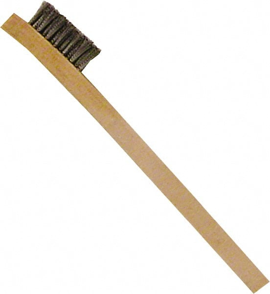 """Twisted Wire Brush 13/"""" OA 1/"""" Brass Wire Tapered 2/"""""""