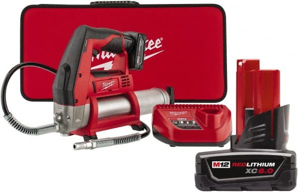 Milwaukee Tool 8 000 Max Psi Flexible Battery Operated Grease Gun 38970240 Msc Industrial Supply