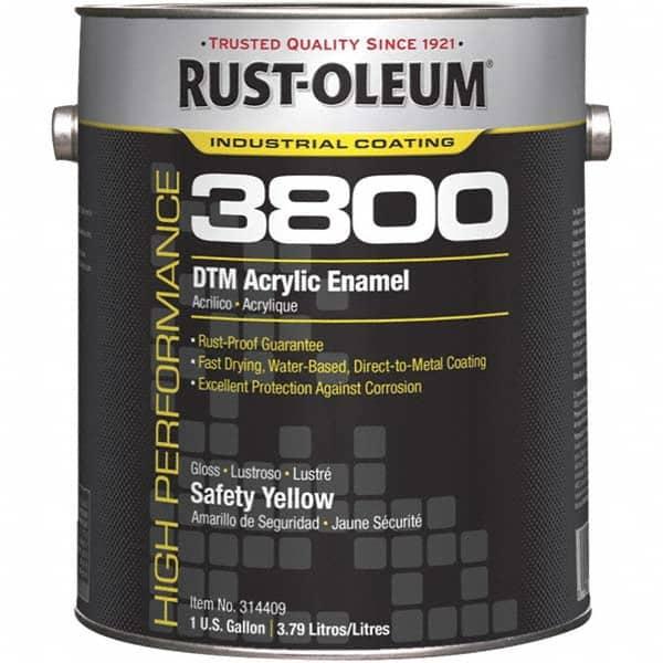 Acrylic Enamel Paint >> 1 Gal Safety Yellow Gloss Finish Acrylic 39035332 Msc