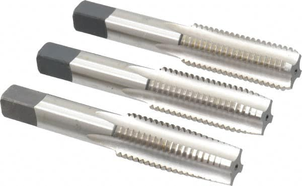4 Flutes 3//4-10 Plug Bottoming 3 Pc Tap Set Taper High Speed Steel 1 Each Bright Tap Finish