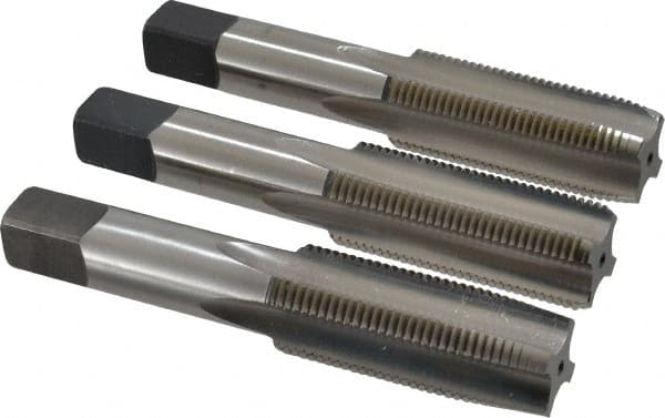 7//8-9 Hand Tap Set 4 Flute Plug Taper Bottoming Carbon Steel USA Made