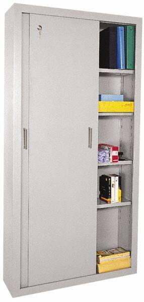 Sandusky Lee 5 Shelf Sliding Door Storage Cabinet 40258535 Msc Industrial Supply