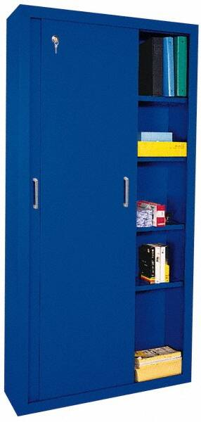 Sandusky Lee 5 Shelf Sliding Door Storage Cabinet 40258543 Msc Industrial Supply