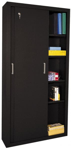 Sandusky Lee 5 Shelf Sliding Door Storage Cabinet 40258568 Msc Industrial Supply