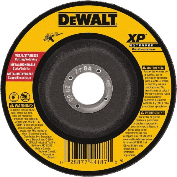 5-Inch X 1//4-Inch X 7//8-Inch DEWALT DW8464 Type 27 Stainless Steel Wheel