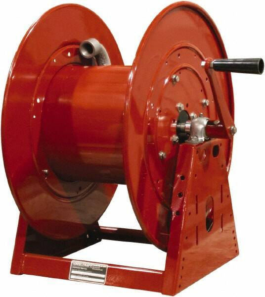3//8 x 35 300 Psi Air//Water Hose Included 3//8 x 35/' Reelcraft DP5635 OLP Heavy Duty Compact Dual Pedestal Hose Reel