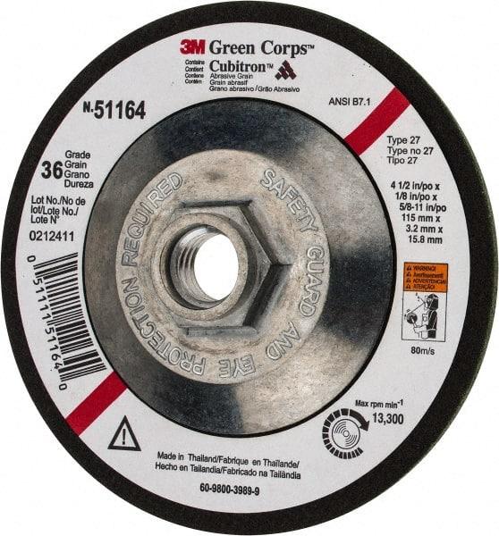 """Aluminum Oxide Deburring Wheel Un... 5//8/"""" Center Hole 3M 8/"""" Diam Medium Grade"""