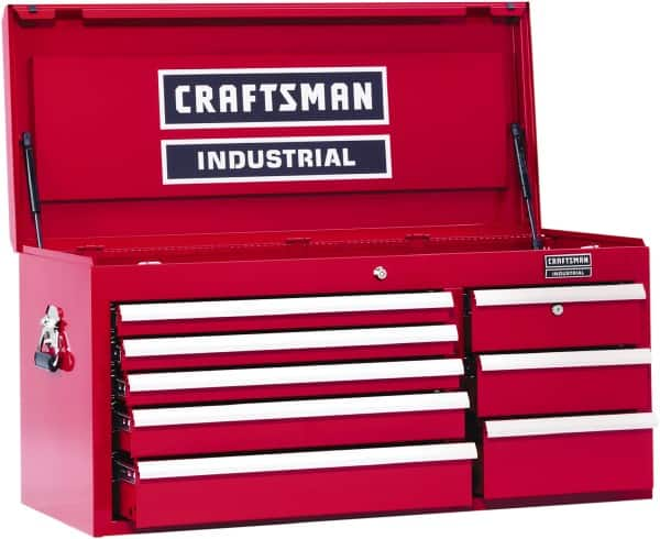 18b9fb7c5a8 Craftsman Industrial 8 Compartment 8 Drawer Top Tool Chest 40 1 2