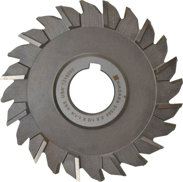KEO Milling 80829 Slitting Saw 5//32 Width 1 Arbor Hole HSS 44 Teeth TiCN Coating Concave,MC Style 5 Cutting Diameter