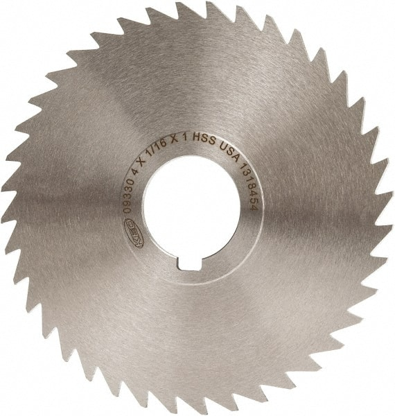 Standard Cut 5 Cutting Diameter HSS Straight Side Tooth,MT Style 3//32 Width 1-1//4 Arbor Hole TiCN Coating 40 Teeth KEO Milling 80447 Slitting Saw