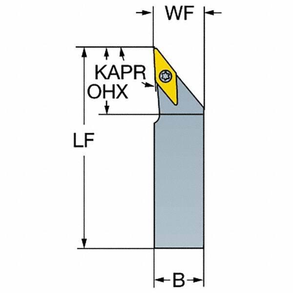 Square Shank 1 Insert Size 1.5 Left Hand External Screw Clamp 10mm Width x 10mm Height Shank Sandvik Coromant SVJBL 1010K 11-S Turning Insert Holder 125mm Length x 10mm Width Steel VBMT 2
