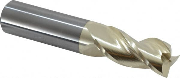 "1-5//8/"" LOC 1//2/"" 3 FLUTE CARBIDE END MILL FOR ALUMINUM ZRN COATED SQ END"