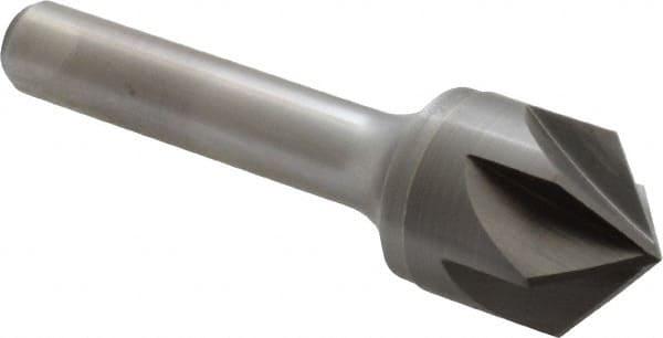 "2-5//8/""OAL USA 1//2/"" 60° 6 Flute Carbide Head Single End Countersink 1//4/"" Shank"