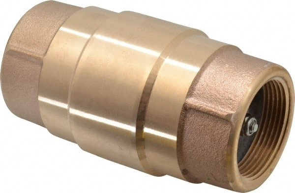 "200 WOG 1//2/"" FNPT Threaded Lead-Free Brass Spring Check Valve"