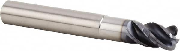 Solid Carbide End Mills - A62107Z 4 Flute Corner Radius 1//8 Dia
