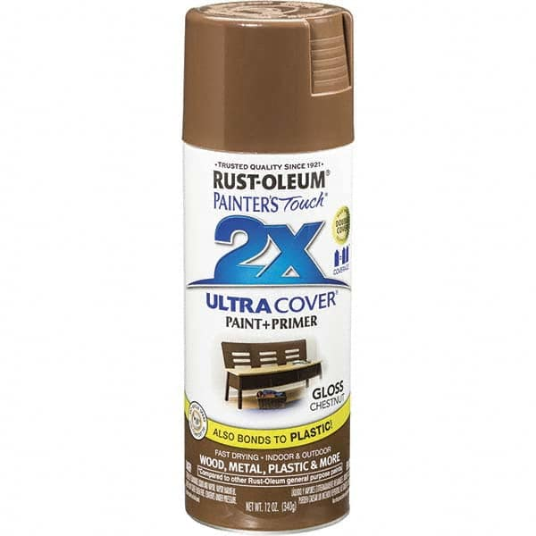 Rust Oleum Chestnut Brown Gloss Enamel Spray Paint 46975934 Msc Industrial Supply